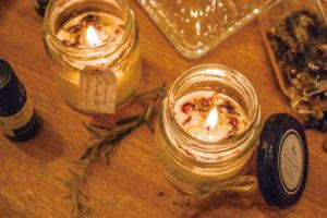 灯りと香りでリラックス「アロマキャンドル」作り