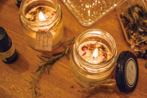 <12月>灯りと香りでリラックス「アロマキャンドル」
